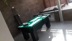 Mesa de Bilhar Cor Preta Tecido Verde Mod. LUWG9666