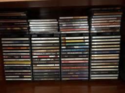 4 organizadores de CD com 15 CDs cada