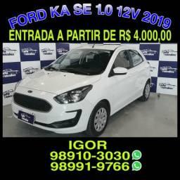 Imperdível na rafa veículos! Ford Ka SE 1.0 12v FLEX 2019, falar com IGOR - 2019