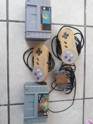 Jogos e controles de super Nintendo