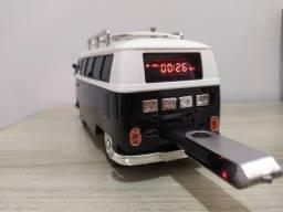 Caixinha de Som Kombi - USB, Bluetooth, Rádio FM, Cartão, P2