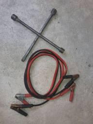 barbada cabo de ponte de bateria chupeta zerado mais uma chave de rodas automotivo
