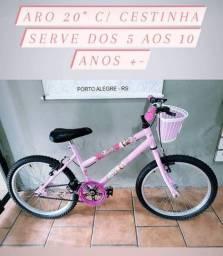 """Bikes aro 20"""" ( serve dos 7 aos 10 anos +-)"""