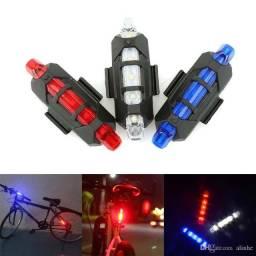 Luz Sinalizador Lanterna Farol USB Recarregável - Bike Ciclismo