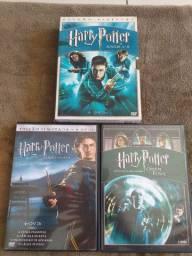 (BARBADA)Coleção Harry Potter 1,2,3,4,5 filmes da coleção 6 DVDs original (BARATO)(ITAJAÍ)