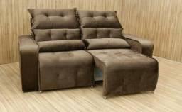 Sofa retratil e reclinavel 1,80mt frete gratis