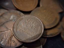 Moedas de 1 centavo americanas