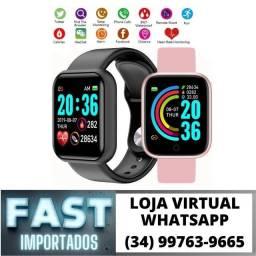 Relógio Smart D20 Bluetooth Android Iphone Calorias - Novo