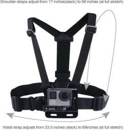 Kit Smatree 3 em 1 -faixa de peito, faixa de cabeça  e parafuso para GoPro