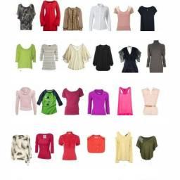 100 peças de roupas variadas