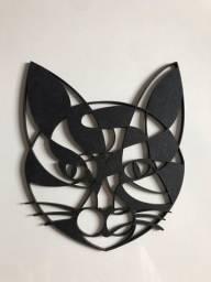 gato decorativo em mdf