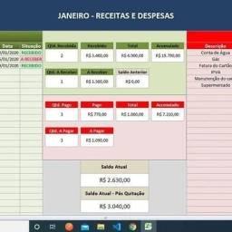 Planilha personalizada controle financeiro
