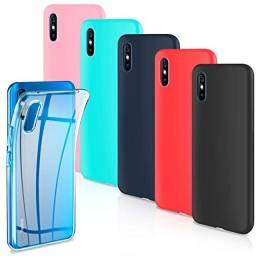 Pronta Entrega Capa Case Capinha Anti Impacto Xiaomi Redmi 9I Transparente e Colorida