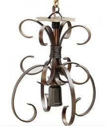 Luminaria de Teto para Quarto de Casal Rústico Artesanal de Ferro