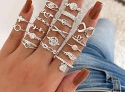 Título do anúncio: Anéis na prata