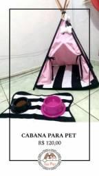 Estilosas e confortáveis cabanas pet