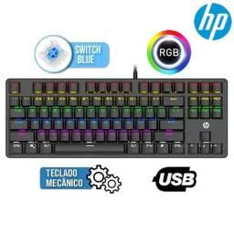 Título do anúncio: teclado usb gamer mecanico gk200 led preto