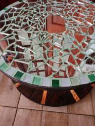 Título do anúncio: Barbada linda mesa centro carretel em ladrilhos e espelho