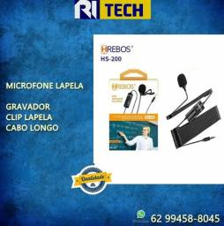 Microfone Lapela Mini Gravador Hrebos - qualidade boya