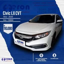 Civic LX CVT 2020 km 19.000