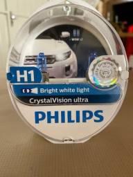 Par de lâmpadas Philips H1 Crystal Vision Ultra