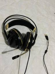 Headset gamer Steelseries  Sibeira V2 preto e dourado