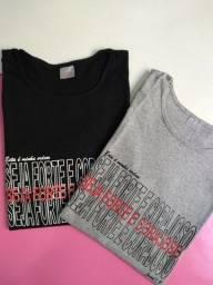 Título do anúncio: T-shirts (seja forte e corajoso)