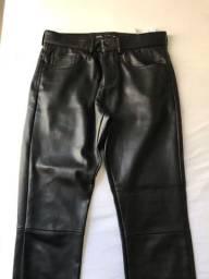 calça de couro zara