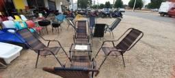 Título do anúncio: Cadeiras fibra sintética e mesa de centro novas de R$980 por R$680 a vista