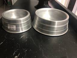 Comedouro para pets de alumínio pesado