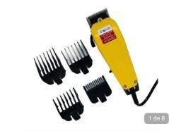 Máquina de cortar cabelo profissional completa com 4 pentes