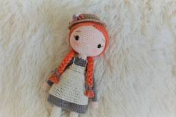 Boneca Anne amigurumi