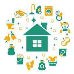 Serviços de diária e cuidados do lar.