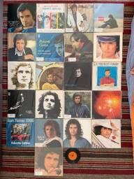 Coleção de discos de vinil - 22 discos do Roberto Carlos