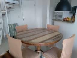 Título do anúncio: Mesa Redonda de 1,20 com 4 Cadeiras com Almofadas