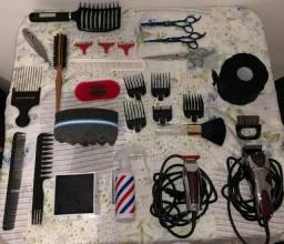 Kit completo de barbeiro
