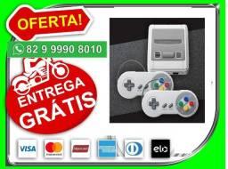 Seu.pedido.entregamos-Gratis-Super Mini Sfc Retrô 620 Jogos 2 Controles