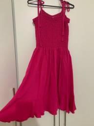 Vestido novo rosa pink
