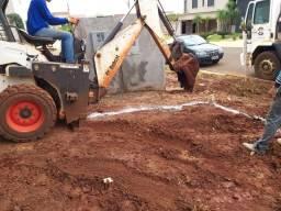 bobcat, mine escavadeira,retroescavadeira e caminhão basculante