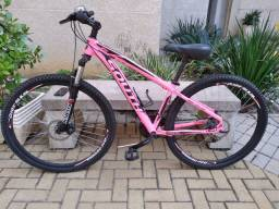 Bicicleta rosa aro 29