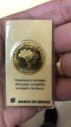 Moeda de Ouro Puro 24k