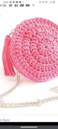 Bolsa de crochê Luxo com fio de malha