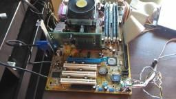 Placa mãe Asus P4V800D + processador Pentium 4 3.0 ghz