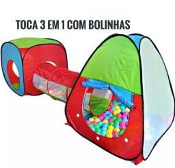 Barraca Toca Infantil 3x1 Com Túnel - Promoção Mais Barata