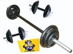 Kit básico de musculação
