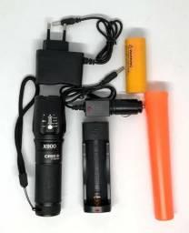 Lanterna Tática Militar X900 Lançamento Recarregável Nova na Caixa