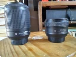 Duas lentes Nikon AF-S