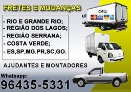 Fretes e Mudanças Meier, Tijuca, Centro, Toda Zona Sul, Barra e Regiões / 24h