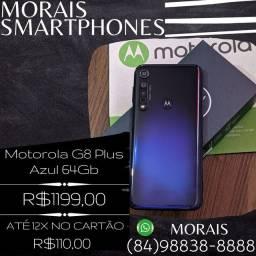 Moto G8 Plus 64Gb Azul (SEMI-NOVO EM ESTADO DE ZERO)