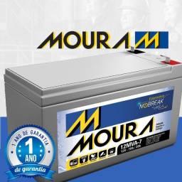Bateria Estacionaria Moura 12v 7ah  1 Ano de Garantia